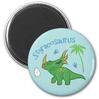 Cute Styracosaurus 2 Inch Round Magnet
