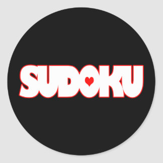 Cute Sudoku Classic Round Sticker