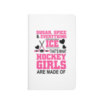 cute sugar and spice ice hockey girls journal