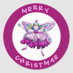 Cute Sugar Plum Fairy Jewel Christmas Stickers