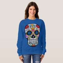 Cute Sugar Skull anchor rose  cool sweater