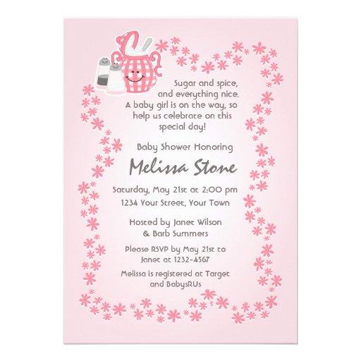 personalized sugar spice invitations | custominvitations4u, Baby shower invitations