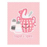 Cute Sugar & Spice Postcard