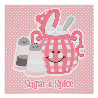 Cute Sugar & Spice Poster Print
