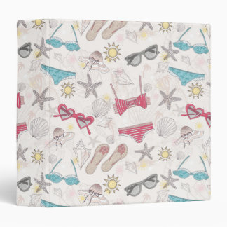 Cute Summer Abstract Pattern Binders