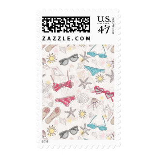 Cute Summer Abstract Pattern Postage