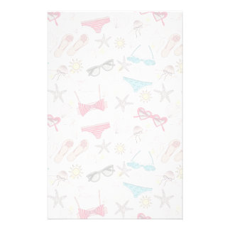 Cute Summer Abstract Pattern Stationery