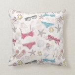 Cute Summer Abstract Pattern Throw Pillow