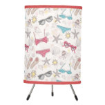Cute Summer Abstract Pattern Tripod Lamp