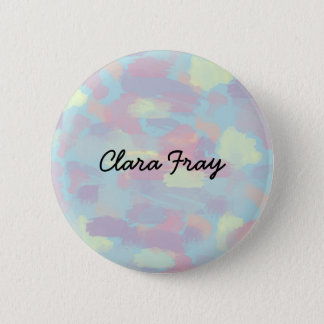 cute summer colorful pastel brushstrokes pattern pinback button