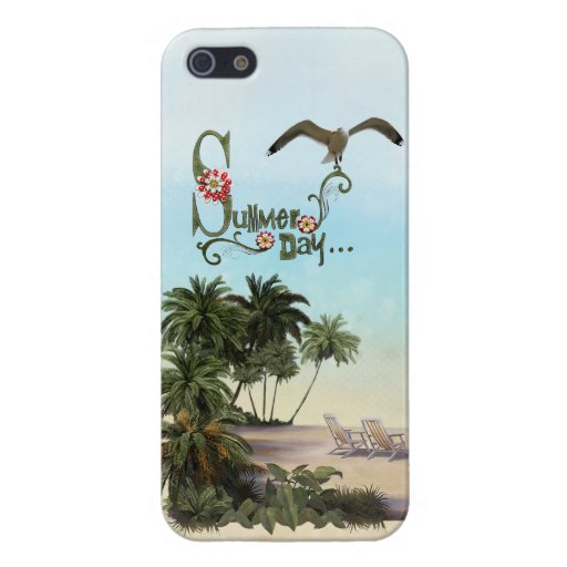 Cute Summer Day With Palm Trees iPhone 5 Cover