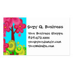 Cute Summer Fun Pink Flower Trees Business Cards