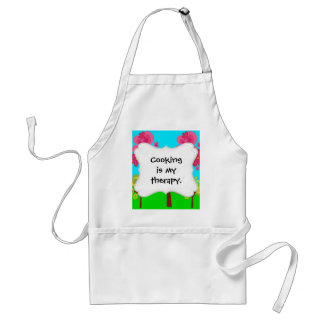 Cute Summer Fun Pink Flower Trees Lollipop Forest Adult Apron