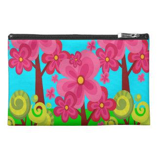 Cute Summer Fun Pink Flower Trees Lollipop Forest Travel Accessory Bags