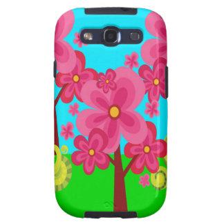 Cute Summer Fun Pink Flower Trees Lollipop Forest Samsung Galaxy SIII Cases