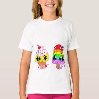 Cute Summer Snack Art Girl Tshirt