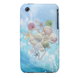 Cute Summer Starfish Shells And Pearls iPhone 3 Case-Mate Cases
