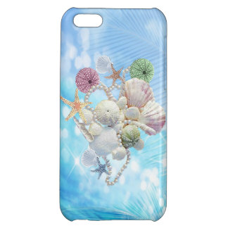 Cute Summer Starfish , Shells And Pearls Cover For iPhone 5C