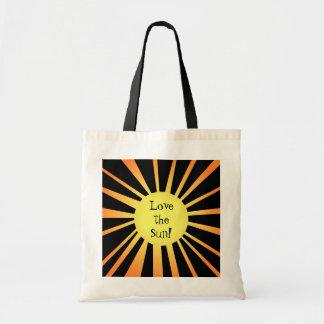 Cute summer sun tote bag