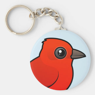 Cute Summer Tanager Keychain