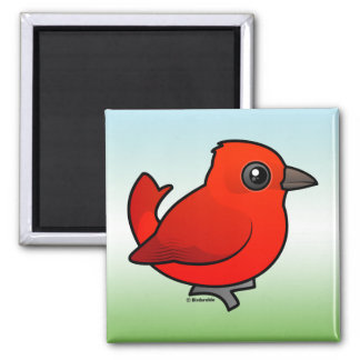 Cute Summer Tanager Magnet