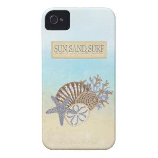 Cute Summer Vintage Beach Theme iPhone 4 Case-Mate Cases