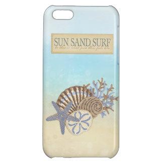 Cute Summer Vintage Beach Theme iPhone 5C Cover