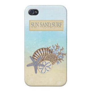 Cute Summer Vintage Beach Theme iPhone 4/4S Case