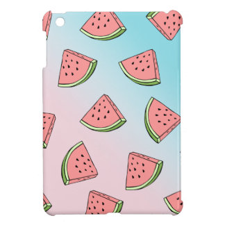 Cute summer watermelon pattern pastel pink & blue case for the iPad mini