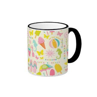 Cute Summertime Ringer Coffee Mug