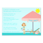 "Cute summertime pool party 5x7 invitation 5"" x 7"" invitation card"