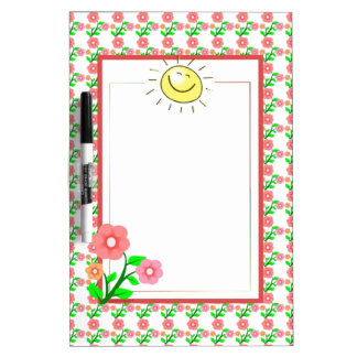 Cute Sun and Flower Dry Erase Board-Customizable Dry-Erase Board