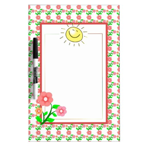 Cute Sun and Flower Dry Erase Board-Customizable Dry-Erase Boards