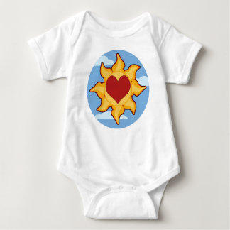 Cute Sun and Heart Baby Baby Bodysuit