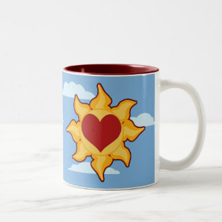 Cute Sun and Heart Mugs