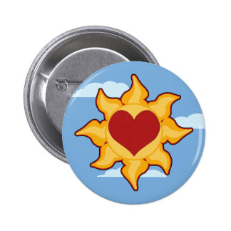 Cute Sun and Heart Pins & Buttons