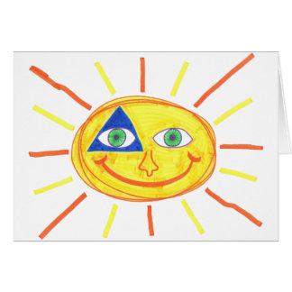 Cute Sun Greeting Card