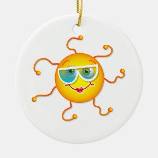 Cute Sun Ceramic Ornament