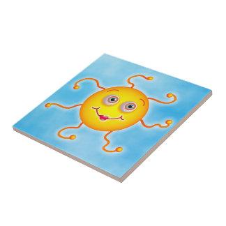Cute Sun Ceramic Tile