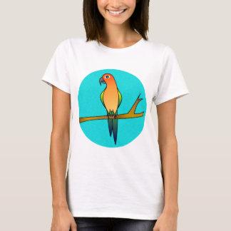 Cute Sun Conure - Light Blue Background T-Shirt