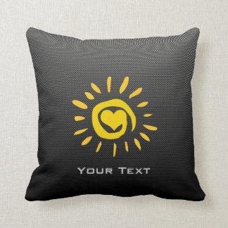 Cute Sun; Faux Carbon Fiber Pillows