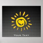 Cute Sun; Faux Carbon Fiber Poster