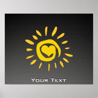 Cute Sun; Faux Carbon Fiber Posters