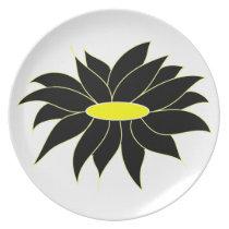 Cute sun flower dinner plate