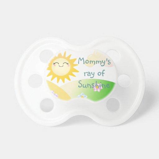 Cute sun kawaii cartoon BooginHead pacifier