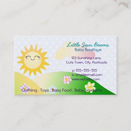 Cute Sun Kawaii Cartoon Business Card Zazzle