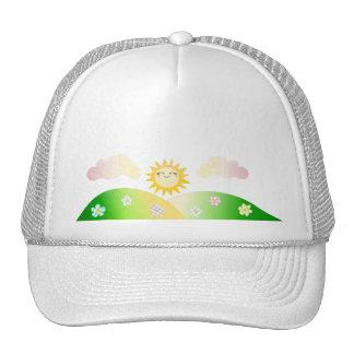 Cute sun kawaii cartoon hats