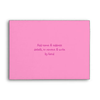Cute Sun, Music Notes & Birthday Cake Pink Party Envelope