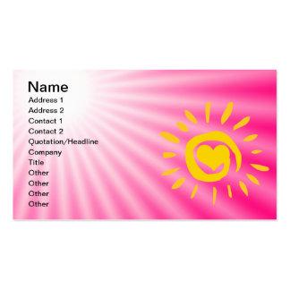 Cute Sun Pink Business Card Template