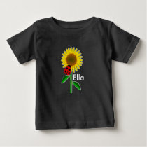 Cute Sunflower Baby Fine Jersey T-Shirt